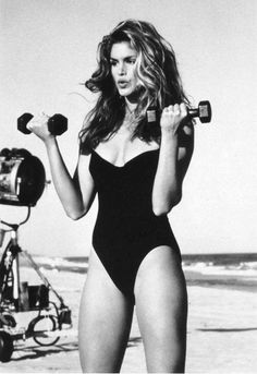 Cindy Crawford...I used to work out to these videos when I was in high school.  I wish I still had them.  A great workout.