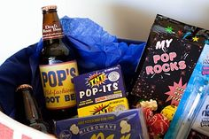 """""""My Pop Rocks"""" - Father's Day gift basket. From kids to their grandpop for his bday...How cute is this?"""