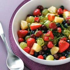 Pina Colada Fruit Salad ~ Give friends a taste of the tropics on warm summer days with this refreshing fruit blend. For a little extra punch, you might add a splash of coconut rum. Carol Farnsworth