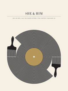 graphic design, band posters, gig poster, album cover, music posters, zooey deschanel, music bands, poster designs, concert posters