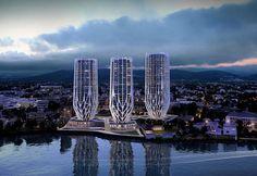 zaha hadid plans grace on coronation development for brisbane - designboom   architecture