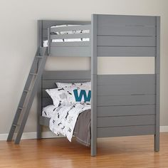 Uptown Bunk Bed (Grey) - Land of Nod