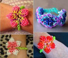 Hibiscus Flower Rainbow Loom Pattern – DIY Bracelet