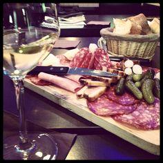 Cured meats platter @ Riva Cafe | Lyon, France