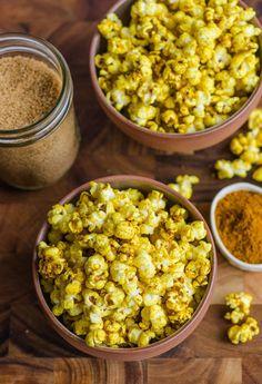 Sweet & Salty Curried Popcorn