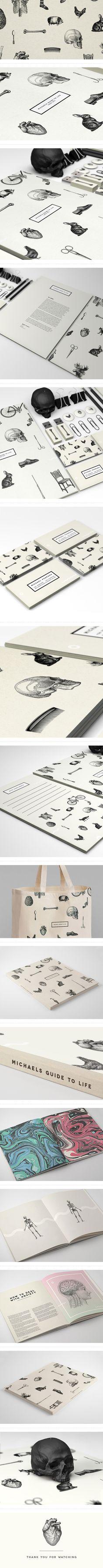 Michael's Guide To Life | #stationary #corporate #design #corporatedesign #identity #branding #marketing < repinned by www.BlickeDeeler.de | Take a look at www.LogoGestaltung-Hamburg.de
