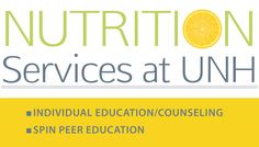 Nutrition services are offered by UNH Health Services for all students.