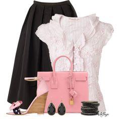 """""""Pink n' Black Summer Style"""" by kginger on Polyvore"""