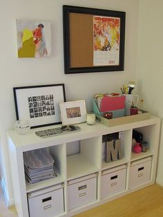 IKEA Expedit in the office - what's not to love.