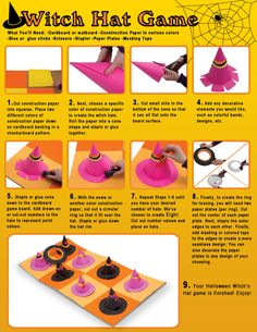 Witch Hat Ring Toss Game.