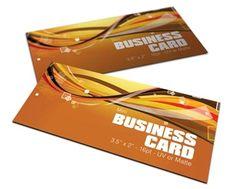"Mini-Business Cards (Slim Cut) 3.5"" x 1.5"" Full Color, UV or Matte"