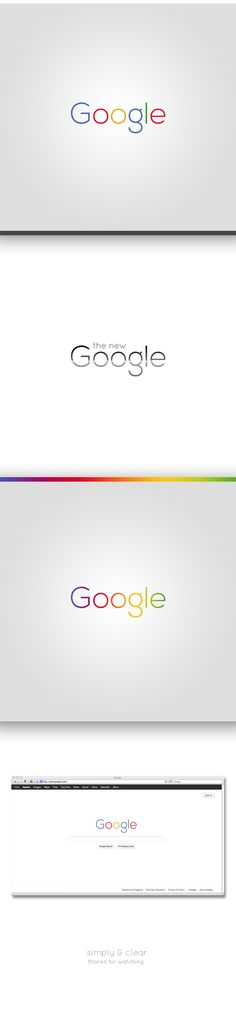 The #Google #Logo #Rebrand Concept by Philipp Bloch, via #Behance