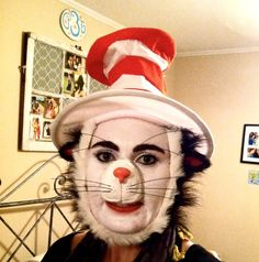 Cat in the hat seussical hair and makeup pinterest