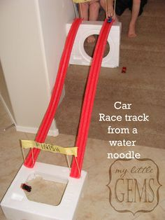 How to make a Car Race Track from a Water Noodle