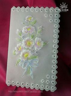 【Pergamano 纸蕾丝】card