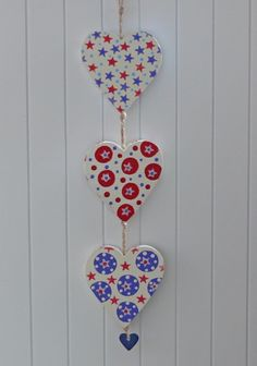 Three Hearts hanging