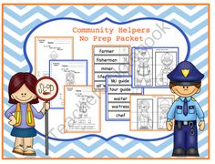 Community Helpers Printable ! Enter for your chance to win 1 of 5.  Community Helpers No Prep Packet (38 pages) from Preschool Printables on TeachersNotebook.com (Ends on on 8-31-2014)  This is a No Prep printable! Print and go!