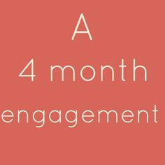 4 Month Engagement Wedding Planning Checklist