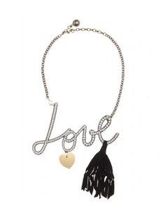 #lanvin - love embellished necklace