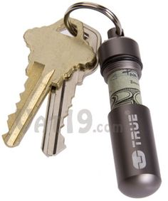 Cash Stash Keychain Capsule: Store cash in case of an emergency. This would be a neat way to give money as a gift. $7.99