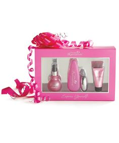 The Express Yourself Gift Collection includes all the essentials for an amazingly satisfying intimate experience. In the Express Yourself Gift Collection, fantastic excitement, a natural feeling lubricant, and a bedroom accessory combine to help you discover new expressions of joy.  Pure Romance By Lisa Rosengrant  607-621-2035