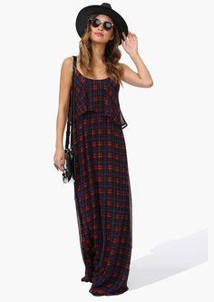 Plaid Maxi Dress | Shop for Plaid Maxi Dress Online