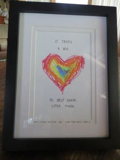 """handmade version of """"It takes a big heart"""" printable - teacher's gift... Would be cute on a tote!"""