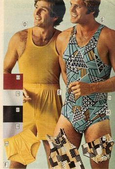 Mens 1970's matching underwear