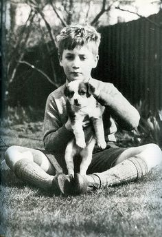 John Lennon and pup