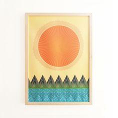 Midcentury print. 2013 Calendar typographic by SpringOnceMore, £14.00