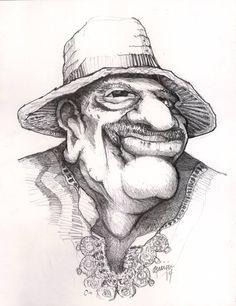 Caricatura de Tite Curet por Luis E. Aparicio