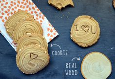 Tree trunk cookies recipe