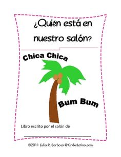 Do you love to read the Spanish Chica Chica Bum Bum book?Here is a free copy of a class book that you can use.Enjoy!Please vote for thi...