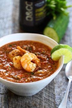 Summery Gazpacho With Shrimp from @eatliverun