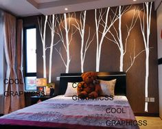 wall decal trees vinyl wall sticker wall decal by coolgraphicss, $88.00