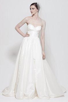A-line taffeta sleeveless bridal gown