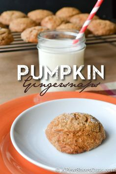 The perfect Holiday cookies! Pumpkin Gingersnaps #Recipe