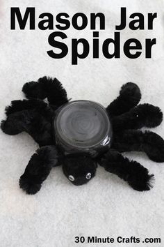 Make a Spider out of a Mason Jar
