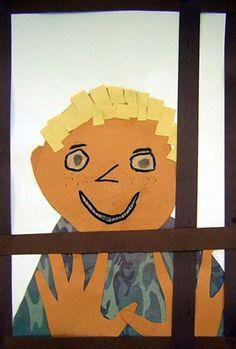 Artsonia Art Museum:  Window Self-Portrait - Second Grade