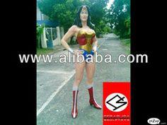 Life-sized wonder woman figure