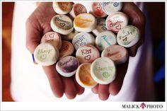 Colourful wishing stones