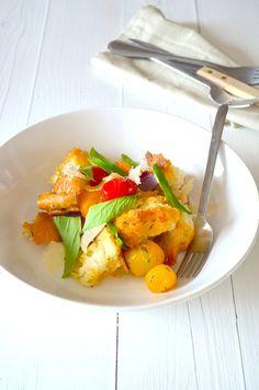 Makkelijke Maaltijd: Italiaanse broodsalade - skinny salad - Panzanella - Italian food
