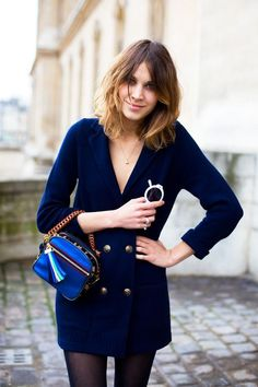 i want a sweater blazer. loving navy for fall.