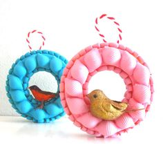craft tutorial easy pasta craft christmas bird ornaments
