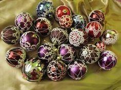 Tatting Christmas Ornaments by ~Asfina on deviantART