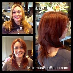 From Summer Blonde to Fall Red By Marni Sr. Colorist  HairStylist - Aida