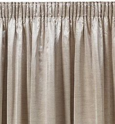 Goblet pleat silk panels with trim Decorating Curtains