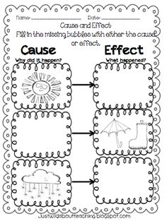 Kindergarten Cause And Effect Writing on reading flow chart worksheets