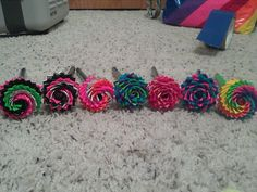 patterned flower pens
