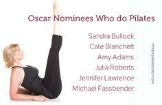 Oscar nominees who do Pilates #oscars #pilates